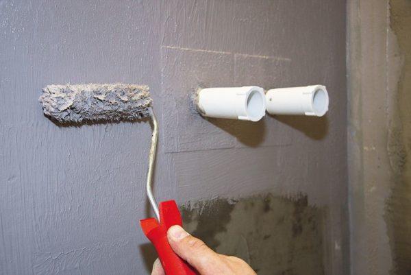 Гидроизоляция штукатуренной стены