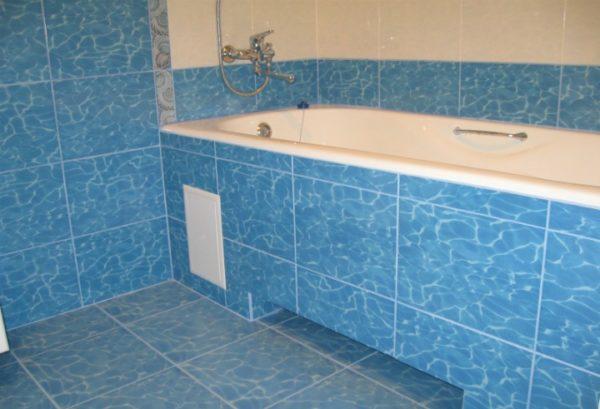 Экран для ванны с нишей для ног